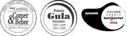 prêmios Carolla Pizzaria Curitiba